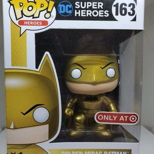 Funko DC Super Heroes Golden Midas Batman #163